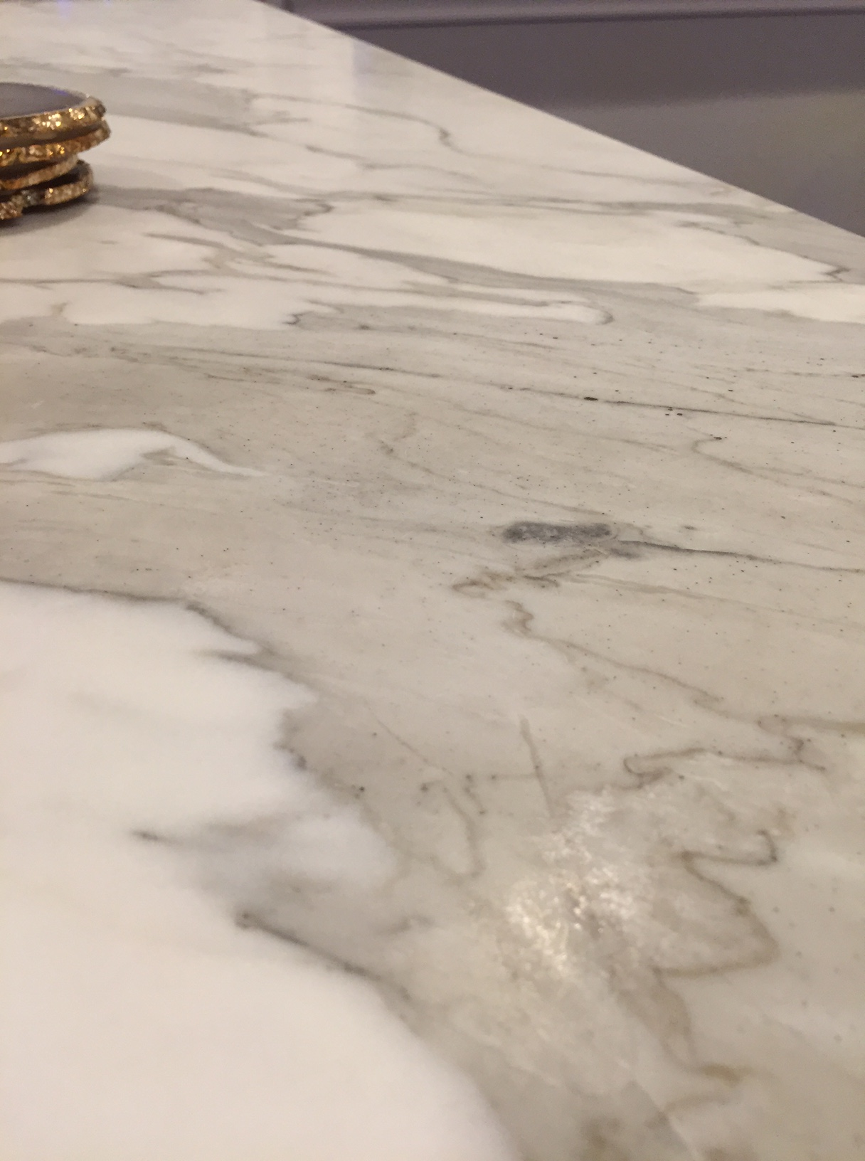 how to get etching out of marble
